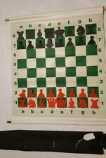"Large 27"" Demo Chess Slot In Style Vinyl Wall Board Pieces & Zippered Carry Case"