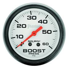 UNIVERSIAL DODGE FORD CHEVY AUTO METER PHANTOM SERIES BOOST GAUGE 5705..