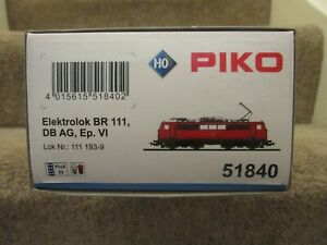 PIKO 51840 CLASS BR 111 DEUTSCHE BAHN DB LOCOMOTIVE E-LOK H0 DC (DCC READY) BNIB