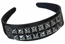 Studded Leather Headband Costume Halloween Headpiece Goth Style Black