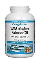 Natural Factors - Wild Alaskan Salmon Oil 1000mg Rich in Omega-... Free Shipping