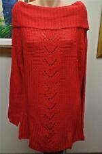 Crossroads Long Tunic Top Size XL-18/20 NEW RRP$49.95 Lantern RED L/S Bardot Rib