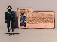 1982 Cobra Officer Complete Red Back File Card Sears JC Penny Action Figure