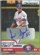 Montreal Expos LUIS AYALA autographed 2001 Donruss - Certified