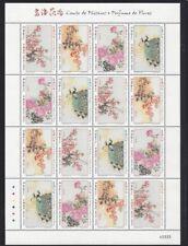 China Macau 2018 Mini Sheet Birdsongs and Spring Flowers stamp
