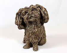 More details for frith sculpture  sprout shih tzu  -  bronze  - boxed  new release