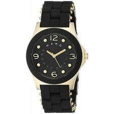 NEW MARC JACOBS BLADE GOLD TONE STAINLESS STEEL BLACK DIAL LADIES WATCH MBM2540