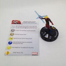 Heroclix Galactic Guardians set Adam Warlock #010 Common figure w/card!
