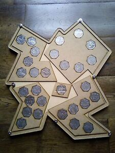 50p rare coin olympics set DISPLAY CASE ONLY NO COINS full set. uk collections