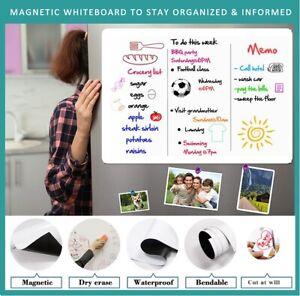 Magnetic Whiteboard For Fridge Dry Wipe Pens Eraser Weekly Planner Notice Board
