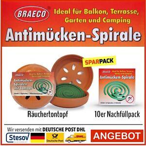 Braeco Anti-Mücken-Spirale Mücken Spirale Mückenabwehr