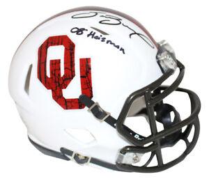 Sam Bradford Signed Oklahoma Sooners Wood Mini Helmet Heisman BAS 26646