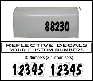E21 SET OF 2 PERSONALIZED MAILBOX NUMBERS GRAPHICS DECALS STICKERS FREE SHIP