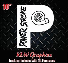 Powerstroke Turbo P * Vinyl Decal Sticker Diesel Stacks TRUCK 2500 3500 window