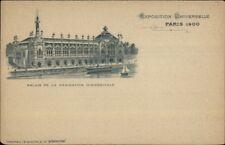 1900 Paris Universelle Expo Palais de la Navigation Commerciale Postcard