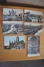 Job Lot 6 Rare Vintage Postcards ROUEN Bonsecours Les Quais Transbordeur St Ouen