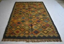Traditional Oriental  Jute Wool Area Rug Large 6x9 Feet Rug DN-776