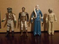 Vintage Lot Kenner Star Wars Figures - Lando, Klaatu, Bib Fortuna, Zuckuss