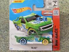 Hot Wheels 2015 # 152/250 fig Rig Verde HW CARRERA
