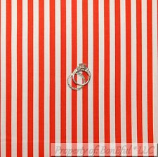 BonEful Fabric FQ Cotton Quilt Red White Stripe Candy Cane Xmas Girl Boy Holiday
