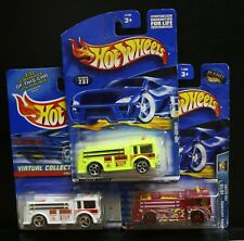 3 NEW HOT WHEELS FIRE EATER 237 WORK CREWSERS 190 VIRTUAL COLLECTION 145