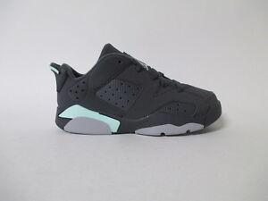 Nike Air Jordan 6 Low Anthracite Mint Foam PS Pre School Sz 2 768884-015