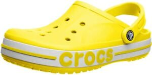 Crocs Bayaband Lemon Yellow Clogs Comfort Sandals 205089 7B0 - SIZE 10 MENS