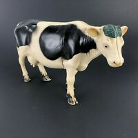 Imperial Vintage milking cow Plastic Toy Barn Farm Animal Figure, blue spot