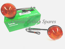Genuine Lucas Long Front Turn Signal Set 60-4104 54057567 56606 Triumph Norton