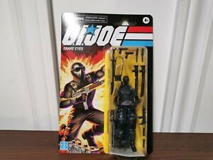 GI Joe Retro SNAKE EYES Walmart Exclusive 3.75 Hasbro - NEW