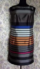 Fitted party dress by AUTOGRAPH Size 12 - 14 Multi stripes Sheen
