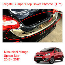 Tailgate Bumper Step Guard Cover Chrome Fit Mitsubishi Mirage Space Star 16 - 17