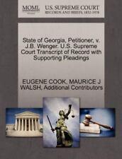 State Of Georgia, Petitioner, V. J.B. Wenger. U.S. Supreme Court Transcript O...