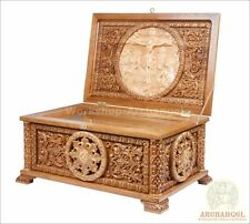 """Orthodox Carved Wooden Reliquary box. Religious Reliquary For Church. Oak 17.30"""""""