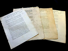 LOT OF FOUR NATIONAL ASSEMBLY DECREES 1790s
