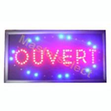 PANNEAU ENSEIGNE LUMINEUSE A LEDS OUVERT POUR COMMERCANT  -Pas Cher-