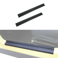 Pair Door Sill Plate Black Protector Trim For 97-06 Jeep Wrangler TJ & Unlimited