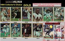 RARE - GOLD ~ STEVE TOVAR [BENGALS & OHIO STATE] '94 Collectors Choice free ship