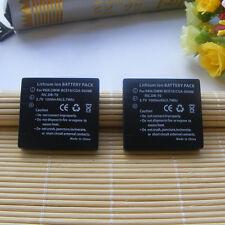 2x Battery for Panasonic CGA-S008E DMW-BCE10E VW-VBJ10E Leica BP-DC6-E