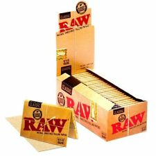 RAW Genuine  Classic 1 1/2 Rolling Cigarette Papers - Full Box 25 Pack