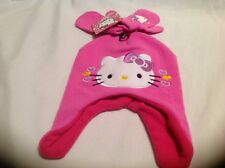 NWT Hello Kitty Pink Hat And Mittens