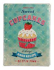 Nostalgie Blechschild Cupkakes Muffin Kuchen Torte Dekoration 30x40 cm RB810646