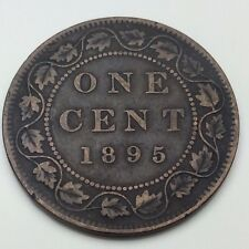 1895 Canada Copper 1 One Large Cent Penny Circulated Canadian Coin C352