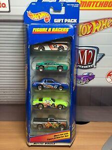 Hot Wheels 5 Pack Diecast Car Set Figure 8 Racers Exclusive Design Ferrari