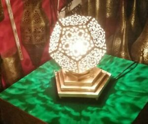 Moroccan Table lamp night light Handmade brass decoration lighting modern Fez