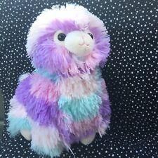 "Fluffy Alpaca Llama Plush 11"" Stuffed Animal Super Soft Purple Pink Blue Easter"
