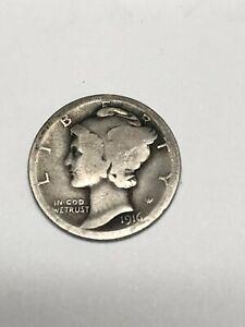 1916 D Mercury Dime Rare Key Date AG VG You Grade