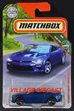 2018 Matchbox #11 '16 Chevy® Camaro® Convertible BLUE VELVET METALLIC / MOC