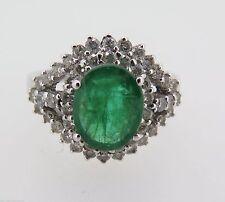 Emerald Cluster 14k Fine Rings