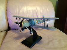 Fairey Fox Swordish Wooden Military Fighter Plane w/Stand